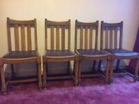 6 oak dinning chairs
