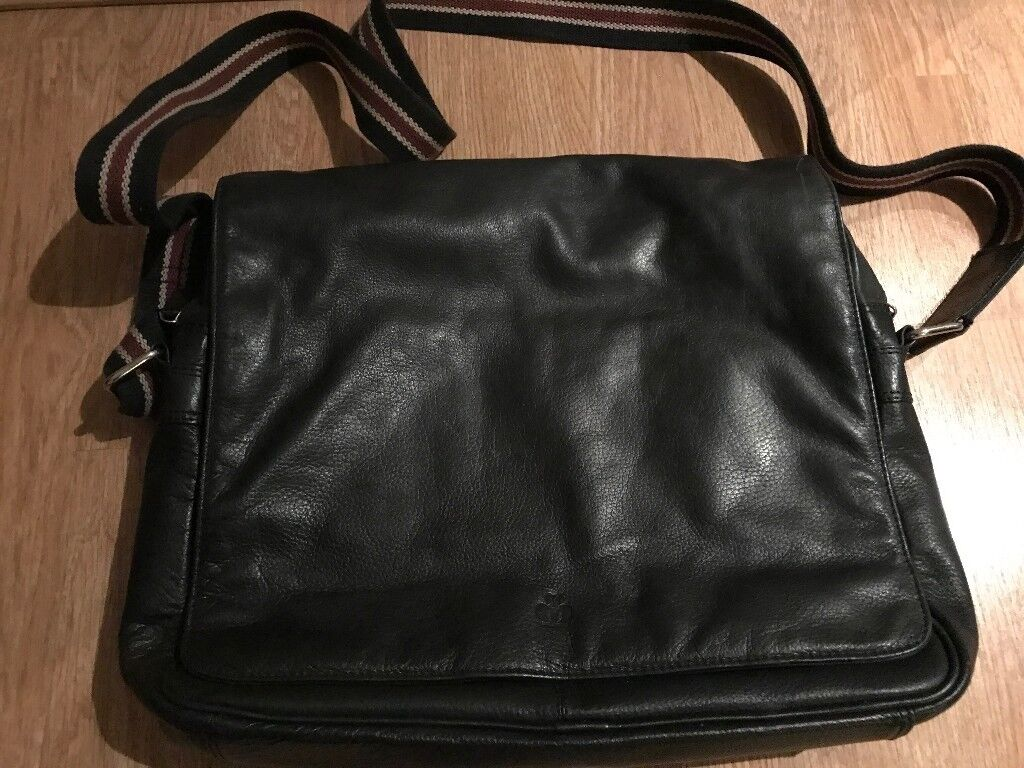 Jeff Banks Fine Leather Messenger Bag Satchel Briefcase Backpack