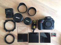 Nikon d800 Set. 20mm & 50mm Lens. Plus LEE Filter kit.