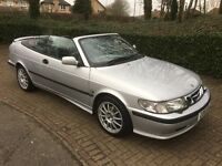 2001 SAAB 9-3 CONVERTIBLE SILVER 2.0T SE 2DR TWO TONE LEATHER SEATS