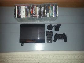 PS3 plus 32 games and cotrollers