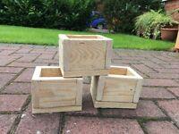 Reclaimed wood succulent planters