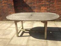 Teak Garden Table Seats 6-8 Very Well Made Solid Teak Wood Garden or Patio Table