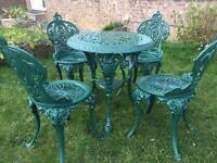 garden table and chairs for sale in leeds. cast iron garden table \u0026 chairs and for sale in leeds
