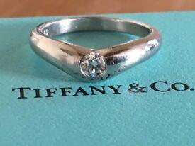 Tiffany and co platinum diamond ring size m 7.3 grams