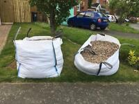 Bulk bag gravel / stones MUST BE ABLE TO COLLECT Approx 1tonne weight each bag