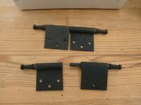2 part cabinet hinges 4.5 inch ( 12cm ) wide approx. box of 200 for £10