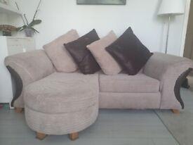 Twobused corner sofas