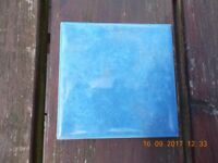 Blue wall tiles 100 x 100 x 6.5mm