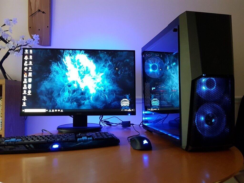 I7 8700K Gaming PC, Liquid Cooling, VR Ready | in Reading, Berkshire |  Gumtree