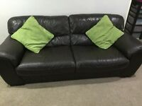 Brown Leather sofa consisting of 1 x 3 seater, 2 x 2 seater in good condition