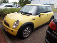 MINI ONE 1.6 HATCHBACK YELLOW 2001 SPARES OR REPAIR *STARTS DOES NOT DRIVE* BARGAIN ONLY £450 *LOOK*
