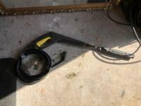 Karcher jet wash gun and hose