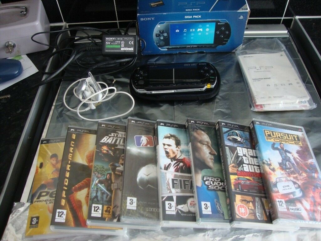 psp console 1gb with 8 games 2 of which are still sealed boxed | in  Nottingham, Nottinghamshire | Gumtree