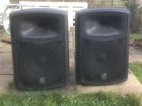PA cabs. AC EURO 500w Pair. Working