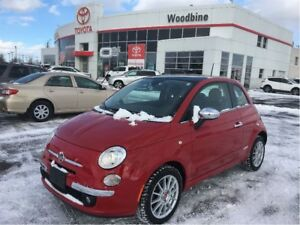2013 Fiat 500 Lounge+LTHR+ROOF+2 SETS OF WHEELS+TIRES