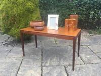 Solid TEAK Coffee Table RETRO MID CENTURY tapered legs