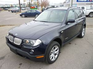 2009 BMW X3 xDrive30i PREMIUM PACK/PANO ROOF/LEATHER/ALLOYS