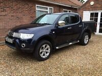 Mitsubishi L200 Warrior Blue 2010 Long Wheel Base in excellent condition and VAT free