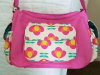 Rose bud of London baby changing bag with changing mat
