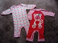 2 Gerber's baby playsuits 3-6 months