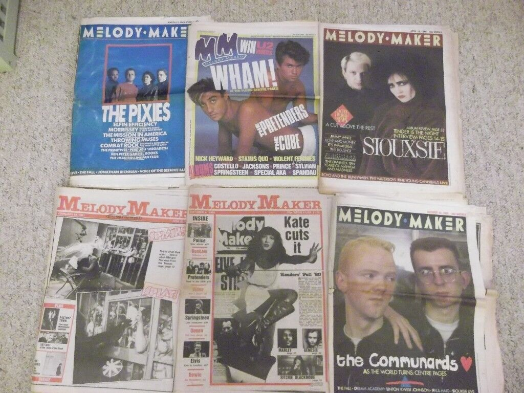 6 Melody Maker magazines from the 1980s