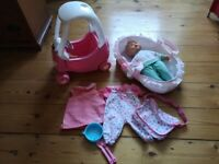 Baby Born doll, cosy coupe and accessories