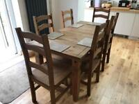Dinning Table & 6 matching chairs