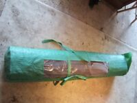 Large roll of 6ft tall wired willow screen, new in bag