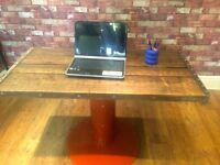 HANDMADE RUSTIC RECLAIMED WOOD DESK - INDUSTRIAL FINISH - TOP COMES OFF - CAN DELIVER