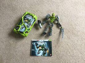 Set of 8 lego bionicles / hero factory