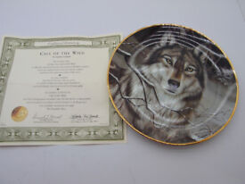Plate Wild Spirits Collection - Call of the Wild: bordered and hand-numbered in 24 karat gold.
