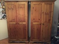Solid Wooden Wardrobes, dressing table and Chester drawers