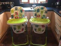 2x Cosatto Noodle Highchairs