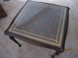Mahogany Chess/Draughts Table