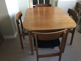 Vintage retro Nathan extending table and chairs