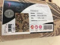 Element essence rugs Floral one in beige/brown one in grey floral