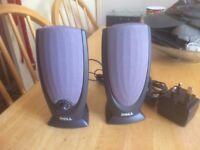 A pair of del pc speakers