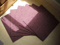 6x Carpet Tiles (New unused) Mulberry Colour.