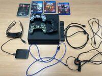 Sony PlayStation 4 Pro 1TB 4K, Samsung 2TB HDD, Media Remote, 3 Games + 4x 3D Glasses