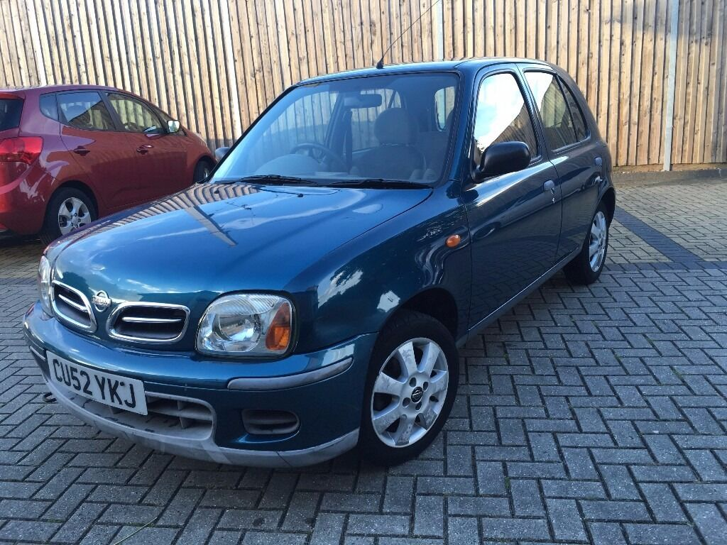 nissan micra auto 52 2002 plate k11 74 000 blue new mot. Black Bedroom Furniture Sets. Home Design Ideas