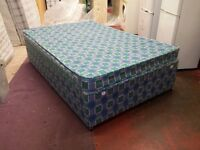 4 foot wide double divan bed with matching mattress