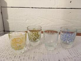 Vintage/retro set of 4 shot glasses