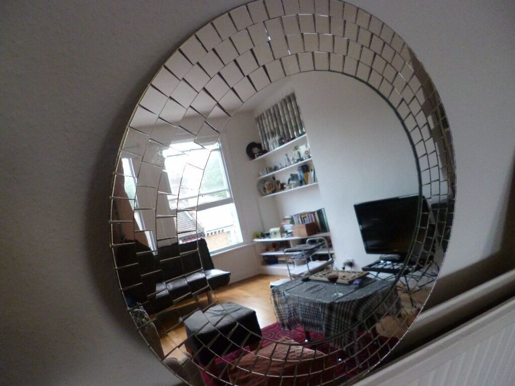ikea tranby round mosaic mirror in hornsey london gumtree. Black Bedroom Furniture Sets. Home Design Ideas