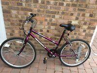 Ladies purple bike with 5 gears