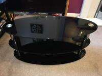 Glass TV Stand (black gloss)