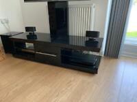 TV Stand with Tilting VESA Bracket in Black Gloss.