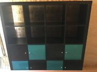 IKEA KALLAX Cube Shelving Rack White Stained Oak Effect Storage Unit (147x147)cm for sale  Hilperton, Wiltshire