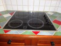 Neff black ceramic halogen hob
