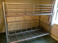 Silver Bunk bed - Single over double